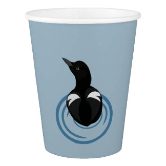 Pigeon Guillemot Vector Art Paper Cups