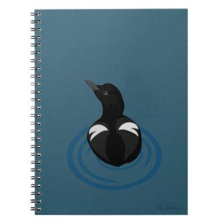 Pigeon Guillemot Vector Art Spiral Notebook