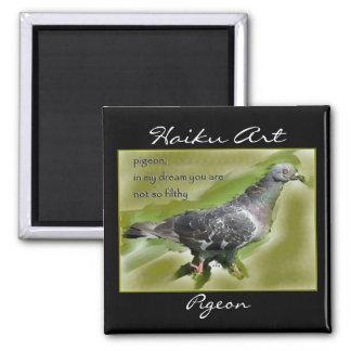 Pigeon Haiku Art Magnet
