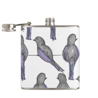 Pigeon Pals Print Hip Flask