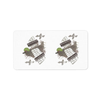 Pigeon Plane Address Labels