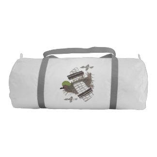 Pigeon Plane Duffle Gym Bag