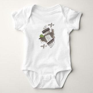 Pigeon Plane No Background Babygro Baby Bodysuit