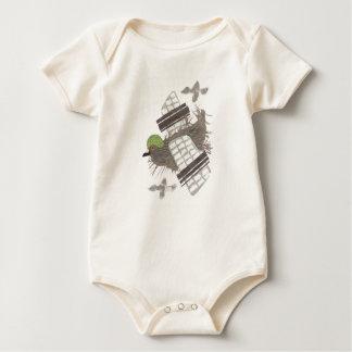 Pigeon Plane No Background Organic Babygro Baby Bodysuit