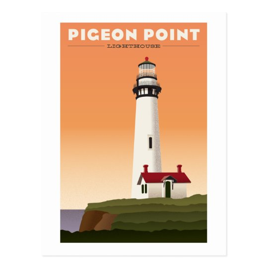 Pigeon Point Lighthouse Vintage travel postcard