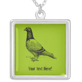 Pigeon Silver Plated Necklace