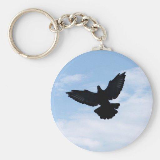 Pigeon voyageur prochain Keychain à la maison Porte-clés