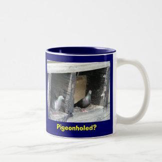 Pigeonholed? Two-Tone Coffee Mug