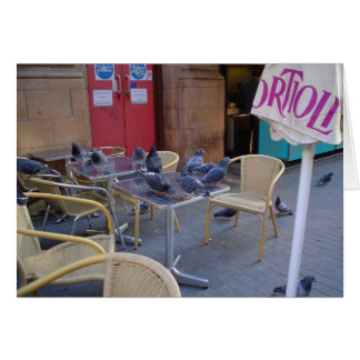 Pigeons at Lunch Card