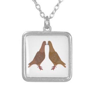Pigeons Silver Plated Necklace