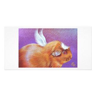 Piggie Angel Picture Card