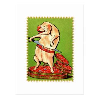 Piggie Loves Bacon Postcard