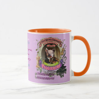 Piggienini Cute Pig Animal Composer Paganini Mug