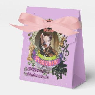 Piggienini Great Animal Composer Paganini Cute Pig Favor Box