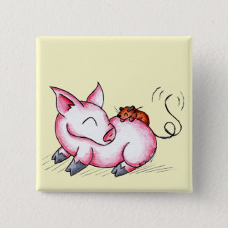 Piggies 2 Inch Square Button