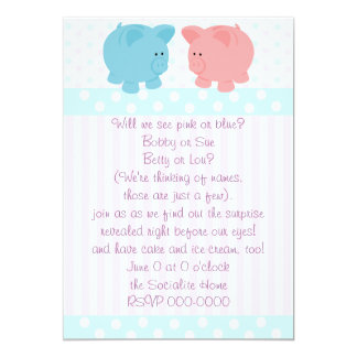Piggies of Pink and Blue Card