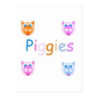 piggies postcards