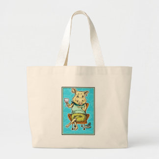 piggy 2 large tote bag