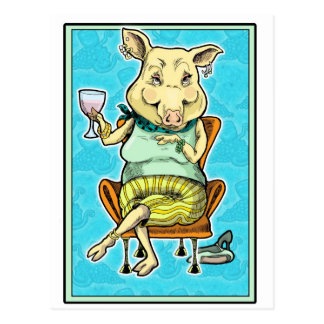 piggy 2 postcard