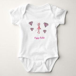 Piggy Ballet Baby Bodysuit