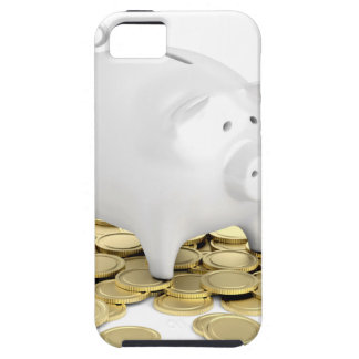 Piggy bank and coins case for the iPhone 5
