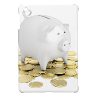 Piggy bank and coins iPad mini case