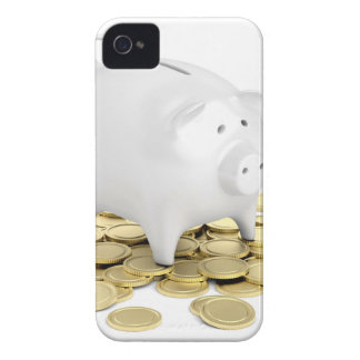 Piggy bank and coins iPhone 4 covers