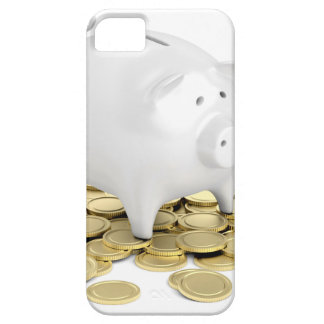 Piggy bank and coins iPhone 5 cover