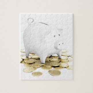 Piggy bank and coins jigsaw puzzle