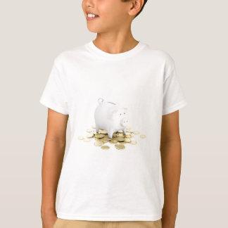 Piggy bank and coins T-Shirt