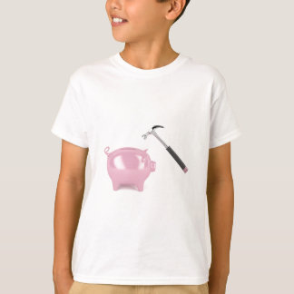 Piggy bank and hammer T-Shirt