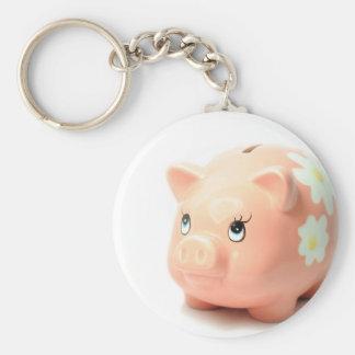 Piggy-bank Basic Round Button Keychain