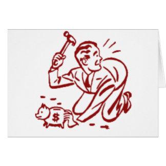 piggy bank greeting card