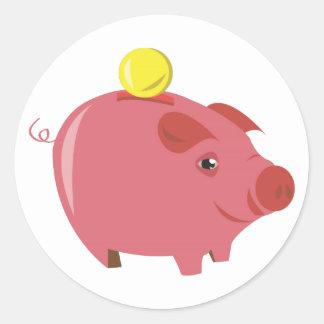 Piggy Bank Classic Round Sticker