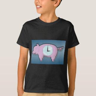 Piggy Bank Clock - T-Shirt
