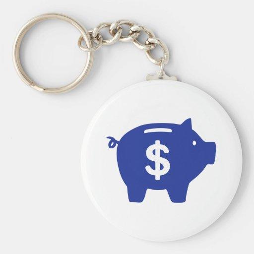 Piggy bank dollar keychain