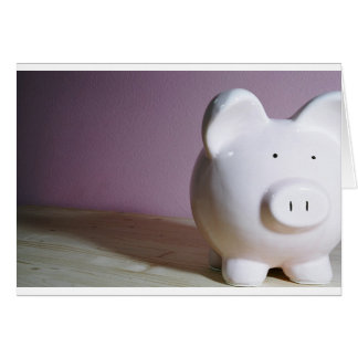 Piggy Bank Greeting Card