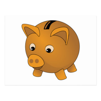 Piggy Bank Post Card