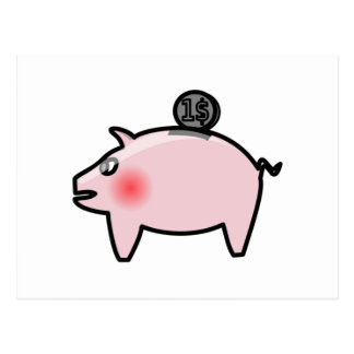 Piggy Bank Post Cards