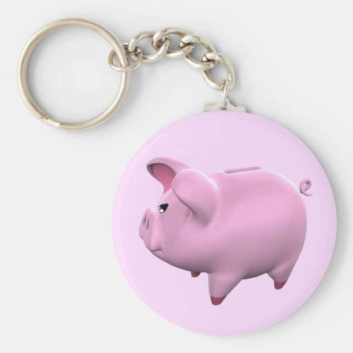 Piggy Bank Toon Keychain