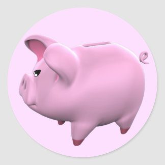 Piggy Bank Toon Sticker