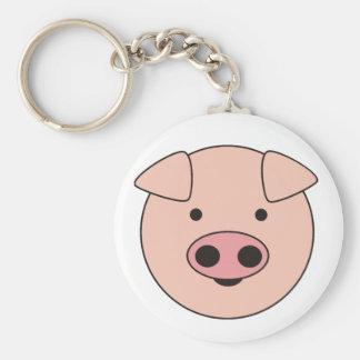 piggy basic round button keychain