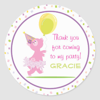 Piggy Birthday Party - Favor Sticker