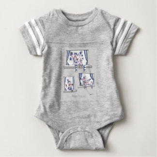 piggy blues forever baby bodysuit