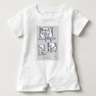piggy blues forever baby romper