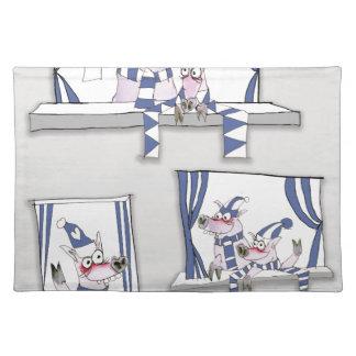piggy blues forever placemat