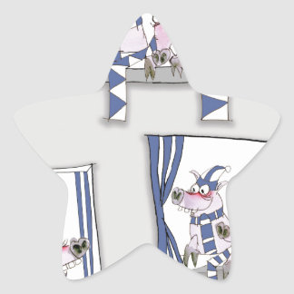piggy blues forever star sticker