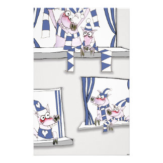 piggy blues forever stationery