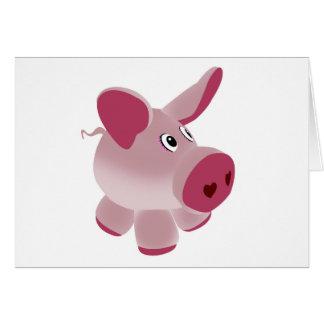 Piggy Greeting Cards
