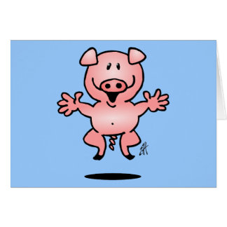 Piggy Greeting Card